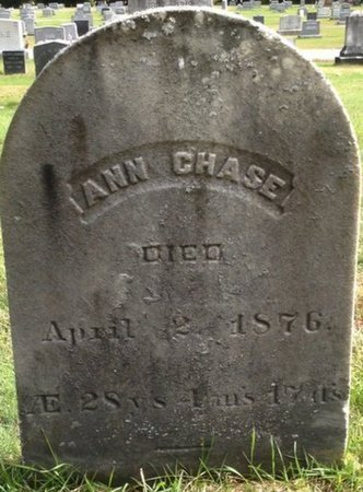 CHASE, ANN - Grafton County, New Hampshire | ANN CHASE - New Hampshire Gravestone Photos