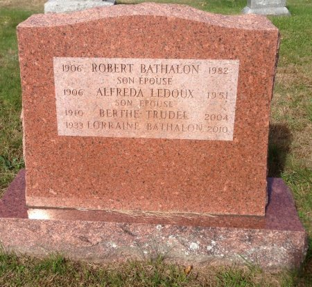 BATHALON, LORRAINE - Hillsborough County, New Hampshire | LORRAINE BATHALON - New Hampshire Gravestone Photos