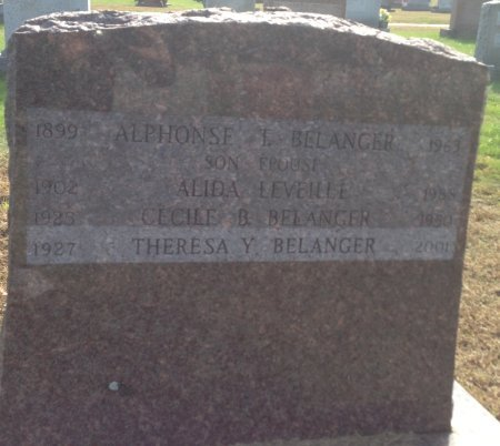 BELANGER, ALIDA - Hillsborough County, New Hampshire   ALIDA BELANGER - New Hampshire Gravestone Photos