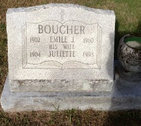 BOUCHER, JULIETTE - Hillsborough County, New Hampshire | JULIETTE BOUCHER - New Hampshire Gravestone Photos