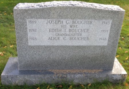BOUCHER, EDITH I. - Hillsborough County, New Hampshire | EDITH I. BOUCHER - New Hampshire Gravestone Photos