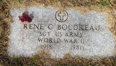 BOUDREAU, RENE C - Hillsborough County, New Hampshire | RENE C BOUDREAU - New Hampshire Gravestone Photos