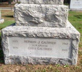 CAUTHIER, HERMAN & CORA - Hillsborough County, New Hampshire | HERMAN & CORA CAUTHIER - New Hampshire Gravestone Photos