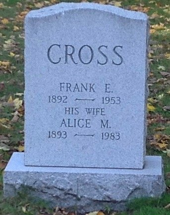 CROSS, FRANK E. - Hillsborough County, New Hampshire | FRANK E. CROSS - New Hampshire Gravestone Photos