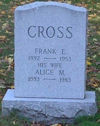 CROSS, FRANK E. - Hillsborough County, New Hampshire   FRANK E. CROSS - New Hampshire Gravestone Photos