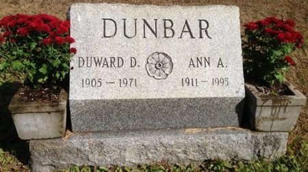 "DUNBAR, ANNA ALBERTA ""ANNIE"" - Hillsborough County, New Hampshire 