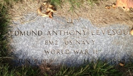LEVESQUE, EDMUND ANTHONY - Hillsborough County, New Hampshire | EDMUND ANTHONY LEVESQUE - New Hampshire Gravestone Photos