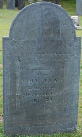 LUND, JOHN - Hillsborough County, New Hampshire | JOHN LUND - New Hampshire Gravestone Photos