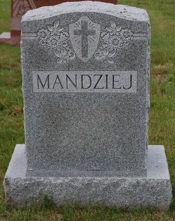 MANDZIEJ, (BACK) - Hillsborough County, New Hampshire | (BACK) MANDZIEJ - New Hampshire Gravestone Photos