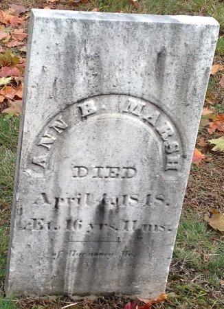 MARSH, ANN B. - Hillsborough County, New Hampshire | ANN B. MARSH - New Hampshire Gravestone Photos