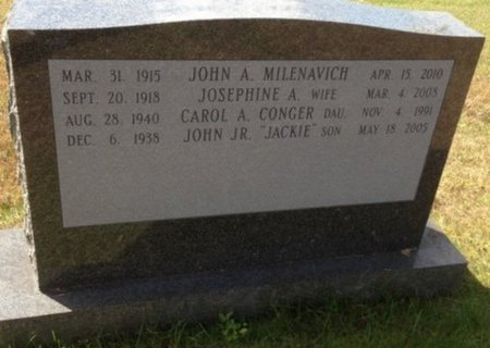 "MILENAVICH, JR., JOHN A. ""JACKIE"" - Hillsborough County, New Hampshire | JOHN A. ""JACKIE"" MILENAVICH, JR. - New Hampshire Gravestone Photos"