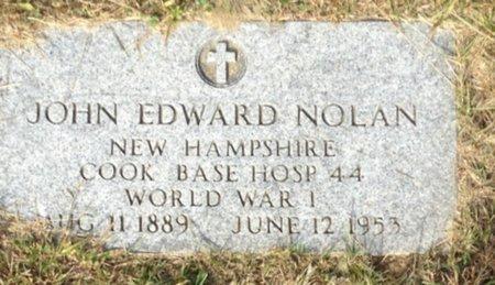 NOLAN, JOHN EDWARD - Hillsborough County, New Hampshire | JOHN EDWARD NOLAN - New Hampshire Gravestone Photos