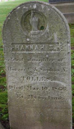 TOLLES, HANNAH S. - Hillsborough County, New Hampshire | HANNAH S. TOLLES - New Hampshire Gravestone Photos
