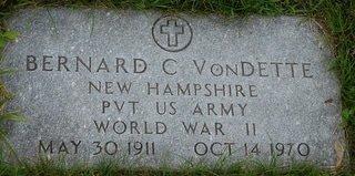 VONDETTE, BERNARD C. - Hillsborough County, New Hampshire | BERNARD C. VONDETTE - New Hampshire Gravestone Photos
