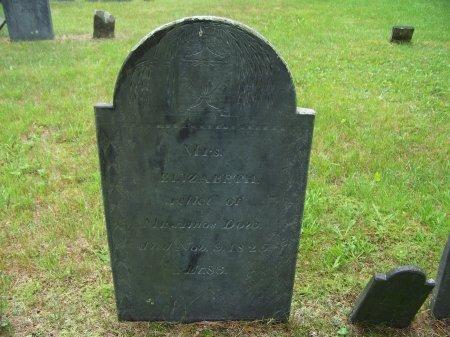 DOW, ELIZABETH - Rockingham County, New Hampshire   ELIZABETH DOW - New Hampshire Gravestone Photos
